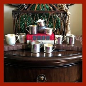 Vintage Silver/Plate Baby Cups & Creamers